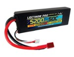 5200Mah, 7.4Volts, 50C Deans (CSR520050CD)
